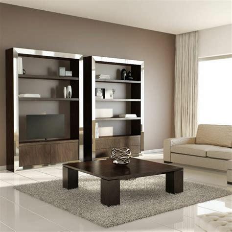 wohnzimmerwand design wandregal designs die tolle wanddeko sein k 246 nnen