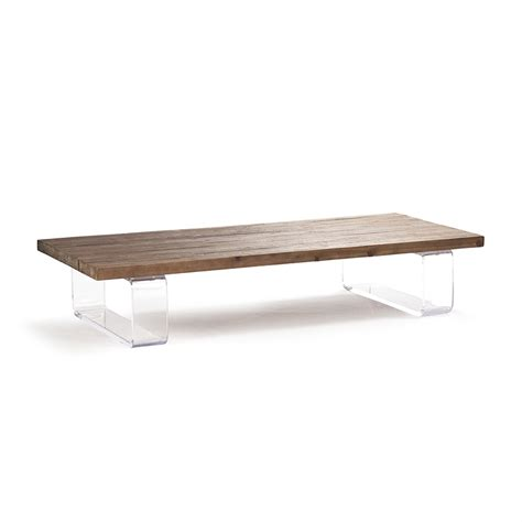 Plastic Coffee Table with Zentique Acrylic Coffee Table