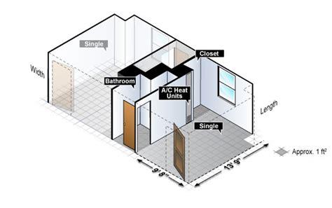 Closet Desk layout housing at purdue university