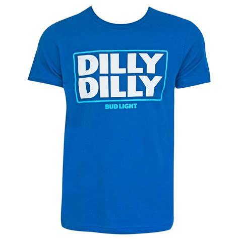 bud light dilly dilly bud light dilly dilly logo blue tshirt