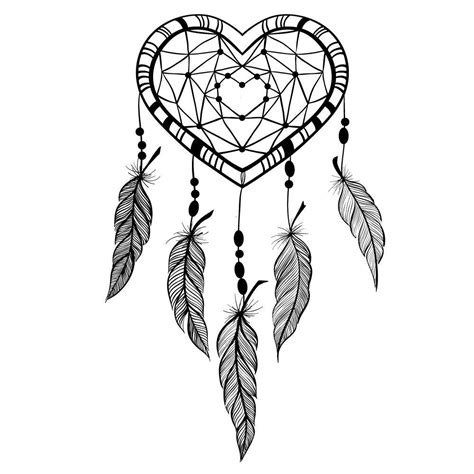 love heart dreamcatcher fake tattoos love heart