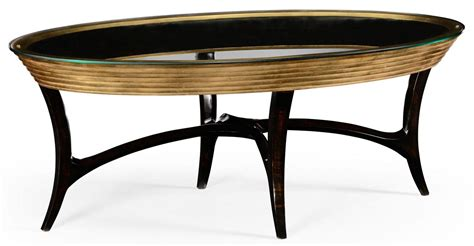 oval black coffee table oval black lacquer and coffee table