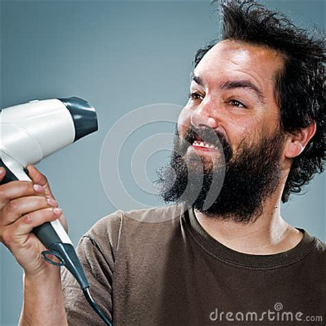 Great Dryer Happy Pretty Hair by Happy With An Hair Dryer Royalty Free Stock