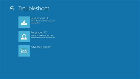 windows resetting your pc refresh and reset your pc building windows 8
