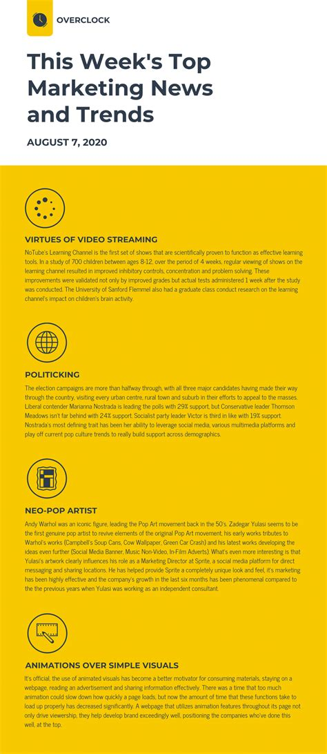 45 Engaging Email Newsletter Templates Design Tips Exles For 2019 Venngage Email Newsletter Templates