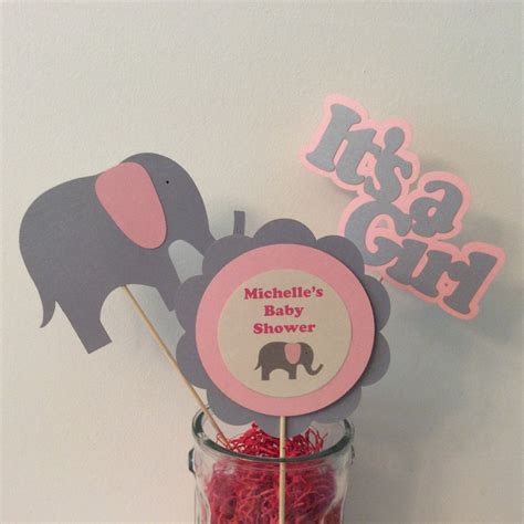 pink elephant baby shower centerpieces pink elephant baby shower centerpiece sticks set of 3 baby