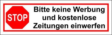 Autoaufkleber Selber Machen österreich by Keine Werbung Aufkleber Selber Drucken