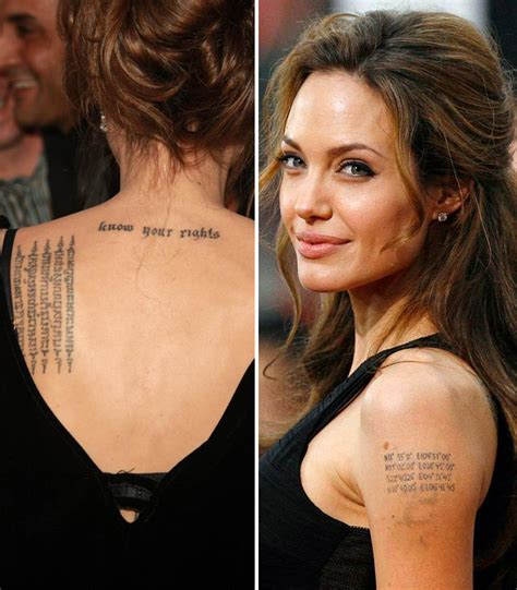 angelina jolie indian tattoo 10 iconic hollywood celebrities with indian tattoos