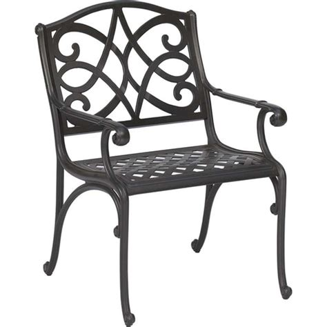 Garden Treasures Patio Chairs Decorative Garden Treasures Waterbridge Cast Aluminum Patio Chair Chairs Seating Furniture Outdoor
