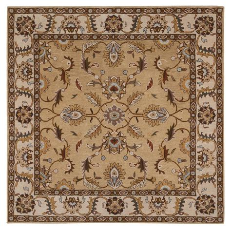 Home Decorators Collection Aristocrat Beige 8 Ft X 8 Ft 8 Square Area Rugs