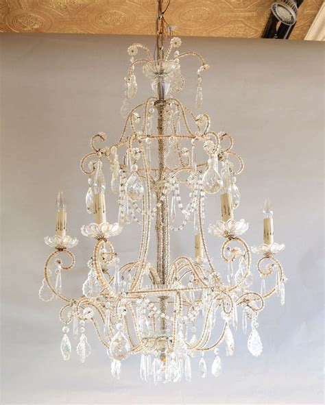 Theresa Chandelier Italian Theresa Beaded Chandelier For Sale At 1stdibs
