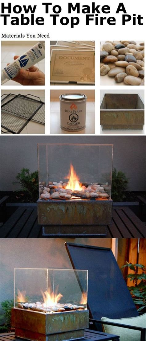 how to make a firepit how to make a table top pit pictures photos and