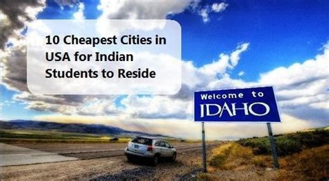 cheapest place to live in us 10 cheapest cities in us for indian students to live in