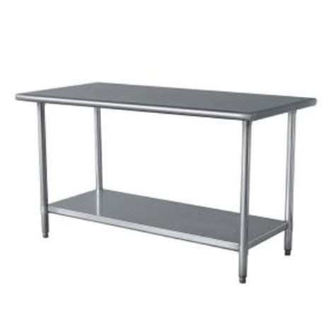 Home Depot Kitchen Table by Amerihome Stainless Steel Kitchen Work Table 24 In X 49 In