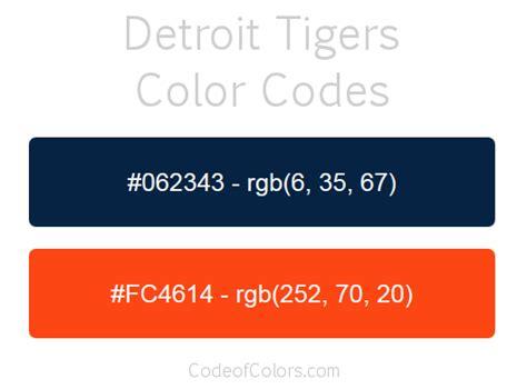 colors detroit detroit tigers team color codes mlb team colors