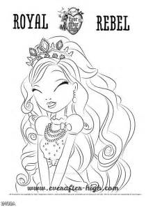 apple ever after high coloring pages