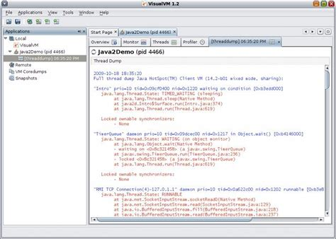 tutorial java visualvm linux how to trace a java program unix linux stack