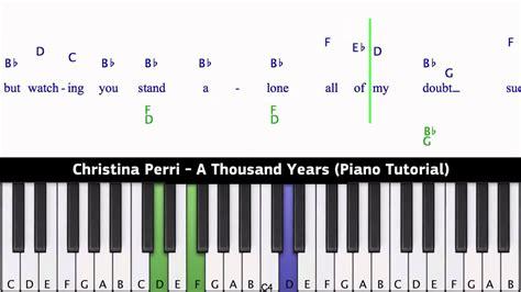 tutorial keyboard lagu a thousand years christina perri a thousand years piano tutorial youtube