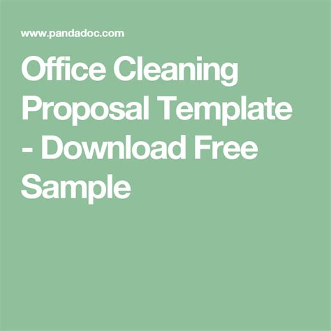 office cleaning proposal template download free sle