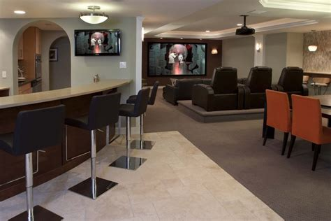basement media room design ideas contemporary family entertainment contemporary basement
