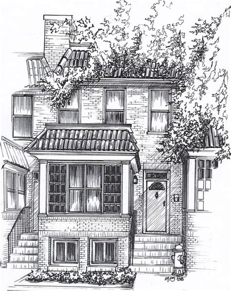 draw houses custom home portrait in pen and ink personal architectural