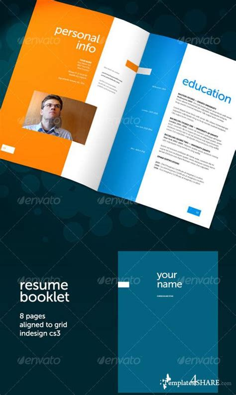 graphicriver resume booklet 8 pages 187 templates4share free web templates themes and