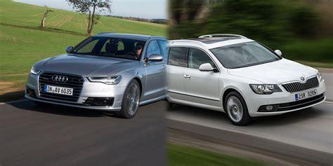 Skoda And Audi by Skoda Superb Estate Vs Audi A6 Avant New Cars To