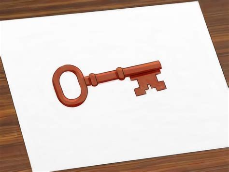 make a drawing how to draw a key 6 steps with pictures wikihow