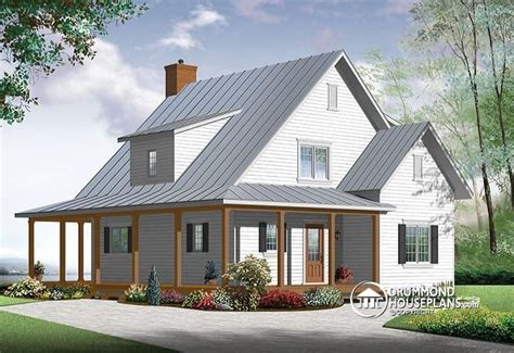 new farmhouse plans house plan w3518 v1 detail from drummondhouseplans
