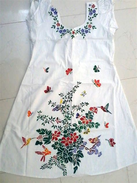 fabric pattern stencils ideas my stencil fabric painting on kurti artists that