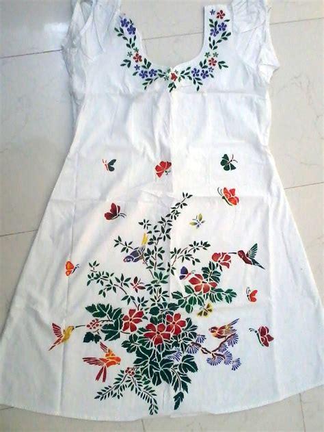 white upholstery paint my stencil fabric painting on kurti gajjar shilpaa