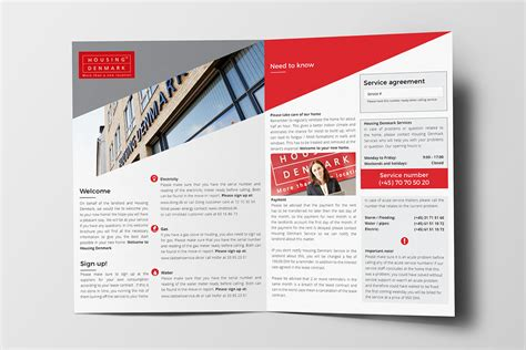 welcome brochure template b5 on behance