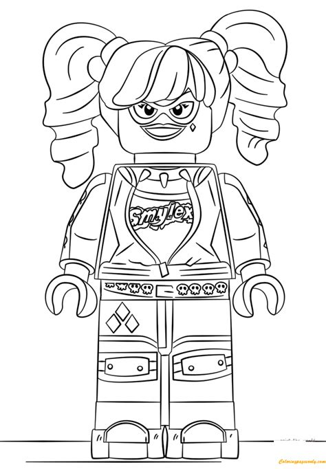 harley quinn coloring pages online the lego batman harley quinn coloring page free coloring