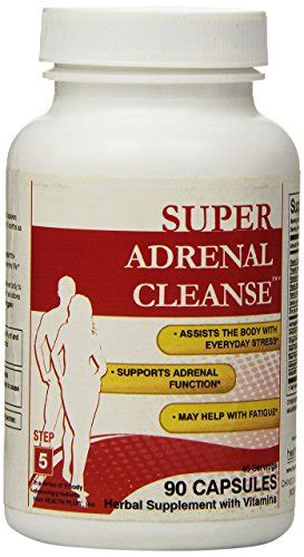 Adrenal Detox Program by Health Plus Adrenal Cleanse Capsules 90 Count