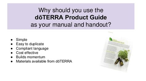 Doterra Class Outline by How To Teached From The Product Guide