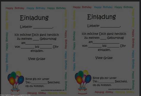 Karten Einladung by Einladung Geburtstag Kostenlos Einladungen Geburtstag