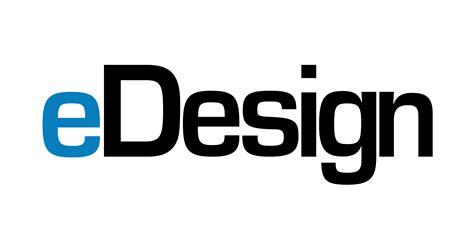 e design edesign logo white