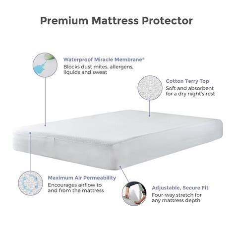 protect a bed premium mattress protector protect a bed premium cotton terry cloth waterproof