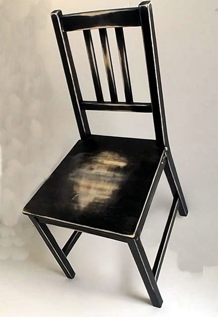 Black Distressed Dining Chairs Distressed Worn Out Dining Chair Black On Light Wood Rustic Living Room Chairs