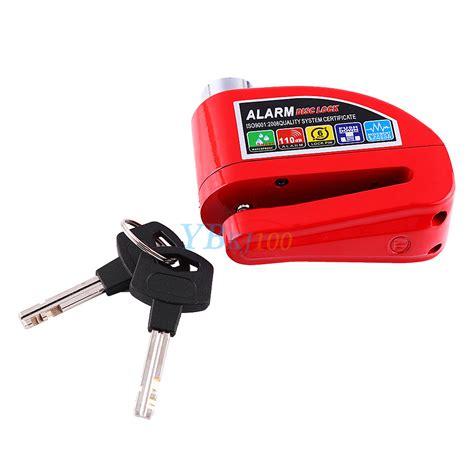 Alarm Lock motorcycle bike scooter anti theft wheel disc brake alarm lock security kit ebay