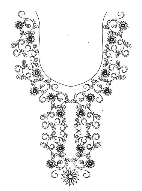 neck pattern sketch hand embroidery designs for kurtis neck simple craft ideas