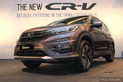 honda cvr price in india 2015 honda cr v facelift launched in malaysia
