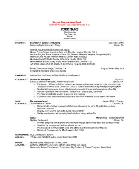 nursing resume exles with clinical experience 10 sle nursing resumes sle templates
