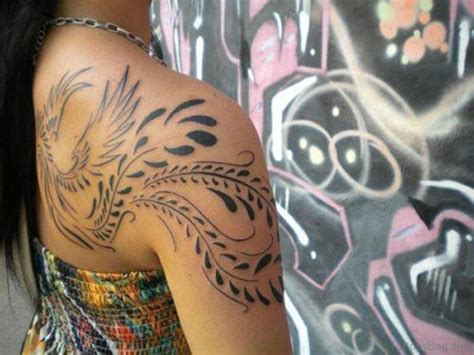 tribal pheonix tattoo collection of 25 tribal on shoulder