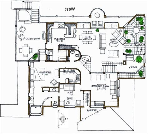 architectual plans contemporary villa plans