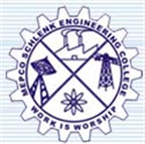 Mepco Schlenk Engineering College Mba by Mepco Schlenk Engineering College Sivakasi Admission 2018