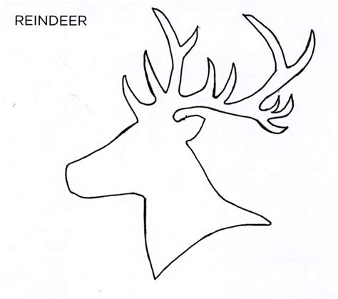 deer template reindeer stencil printable images