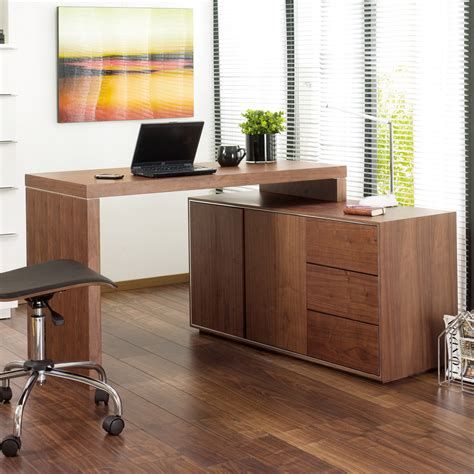 Walnut Home Office Desk Executive Office Desk Walnut Dwell