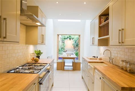 narrow kitchen narrow but comfortable residence in london decor advisor