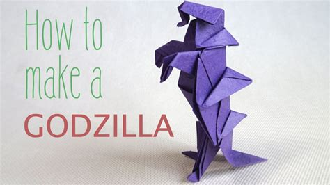 How To Make An Origami Godzilla - how to fold a paper godzilla origami godzilla